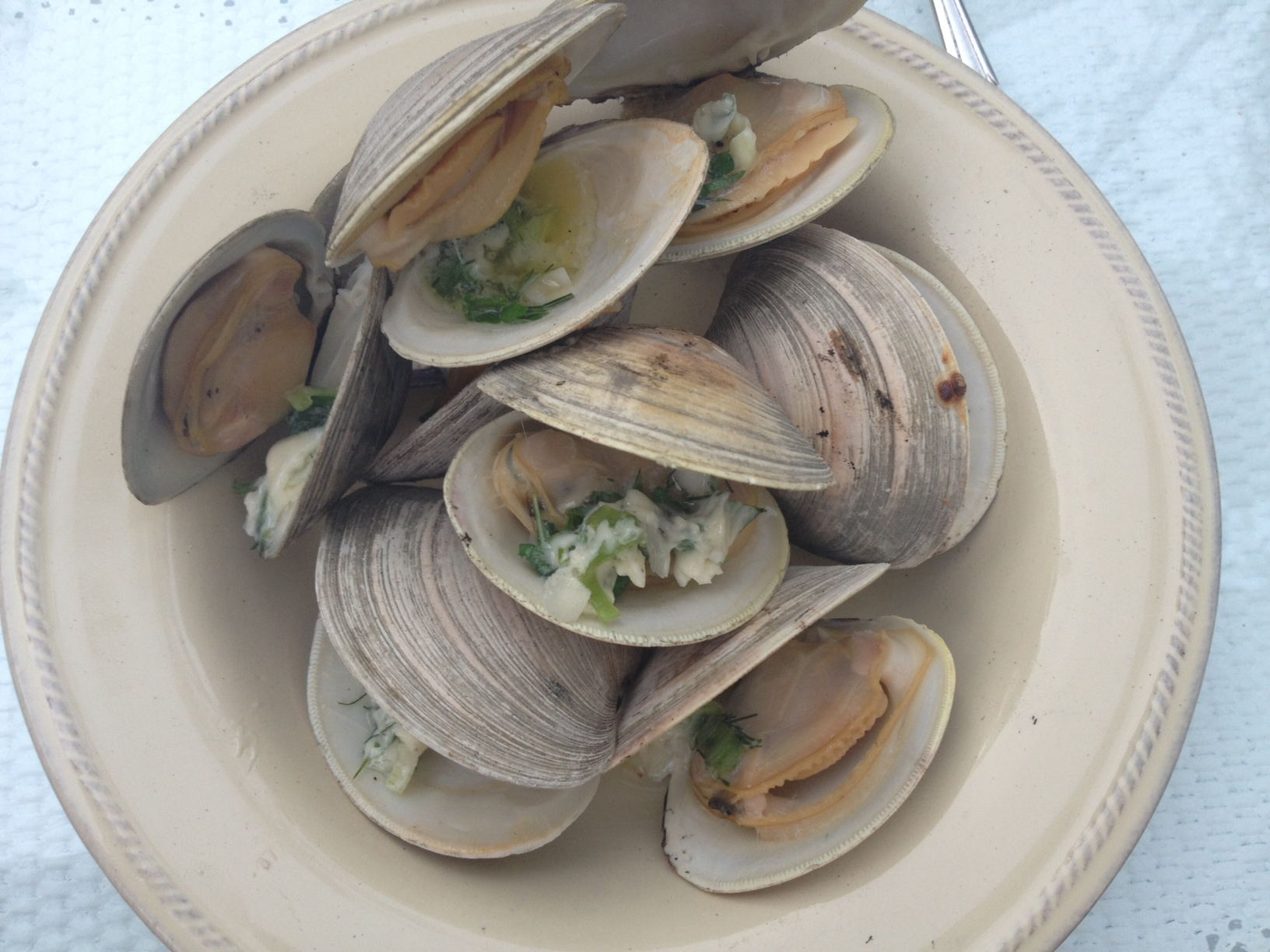 grilled clams with herb butter   Serving The Seasons